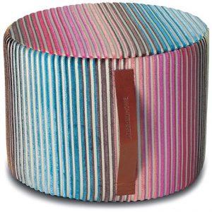 Missoni Home cylinder pouf Jacaranda T50
