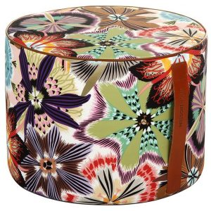 Missoni Home cylinder pouf Passiflora T59