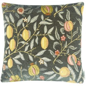 Morris & Co cushion Fruit Velvet Walnut-Brush