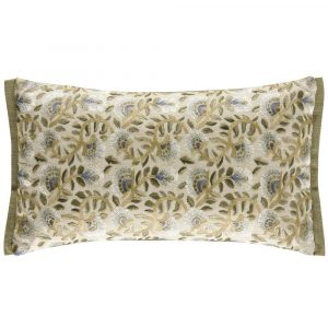 Morris & Co cushion Wardle Embroidery Bayleaf-Manilla