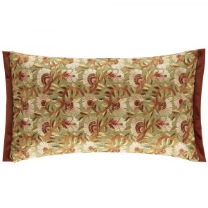 Morris & Co cushion Wardle Embroidery Olive-Brick
