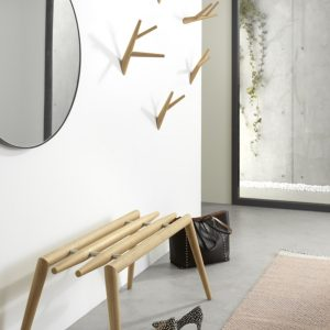 Klybeck wooden bench Oddo