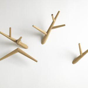 Klybeck wooden coat hooks Ivy - set of 3