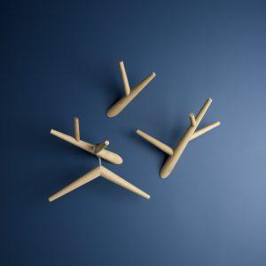 Klybeck wooden coat hanger K - set of 2