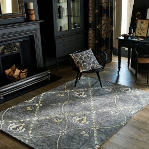 Morris & Co rug Trellis Black Ink