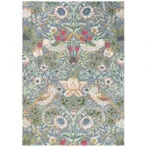 Morris & Co rug Strawberry Thief Slate