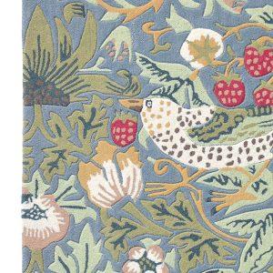 Morris & Co rug Strawberry Thief Slate