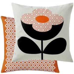 Orla Kiely cushion Buttercup Stem Persimmon