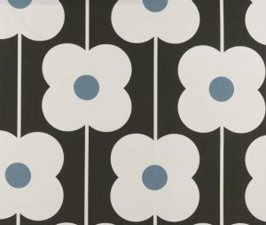 Orla Kiely curtain fabric Abacus Flower Powder Blue