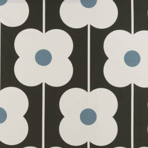 Orla Kiely curtain fabric Abacus Flower Powder Blue