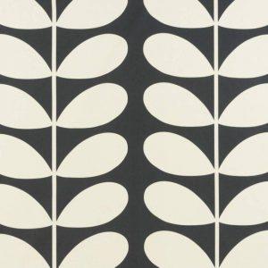 Orla Kiely curtain fabric Giant Stem Cool Grey