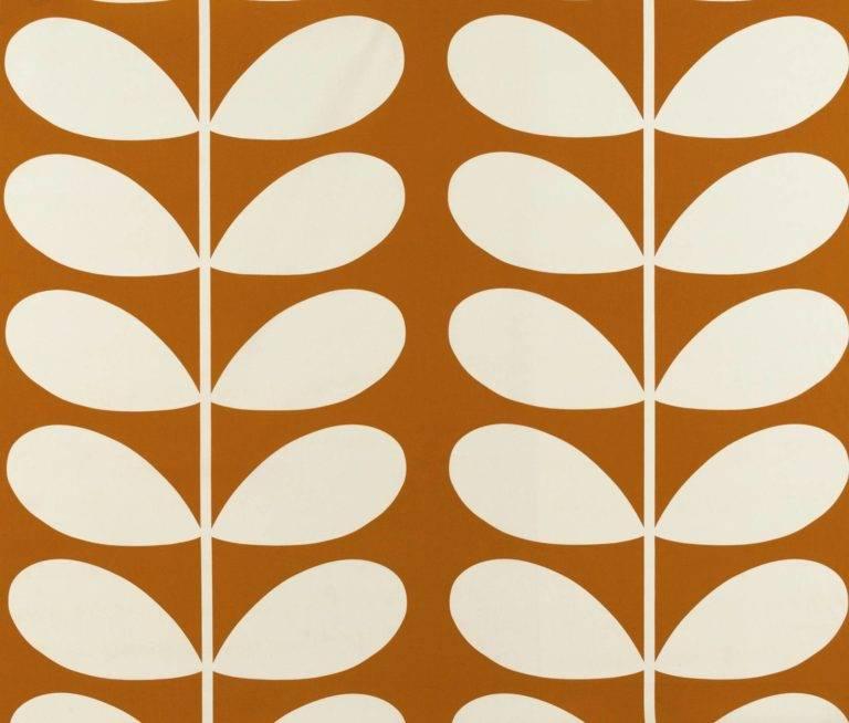 Orla Kiely Curtain Fabric Giant Stem Orange