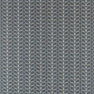 Orla Kiely curtain fabric Linear Stem Cool Grey