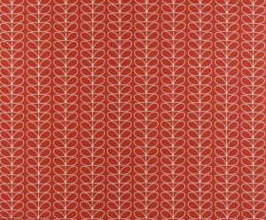 Orla Kiely curtain fabric Linear Stem Tomato