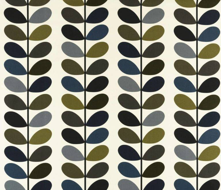 Orla Kiely Curtain Fabric Multi Stem Moss