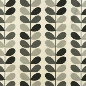 Orla Kiely curtain fabric Multi Stem Warm Grey