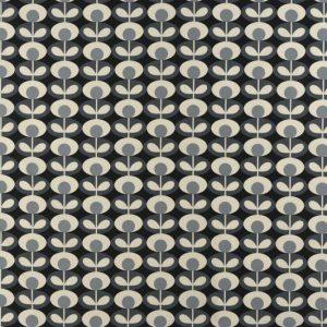 Orla Kiely curtain fabric Oval Flower Cool Grey