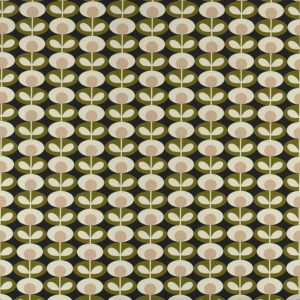 Orla Kiely curtain fabric Oval Flower Seagrass