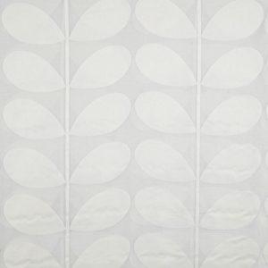 Orla Kiely sheer curtain fabric Giant Stem White