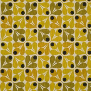 Orla Kiely furniture fabric Acorn Cup Saffron