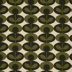 Orla Kiely furniture fabric Oval Flower Khaki