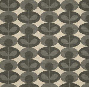 Orla Kiely furniture fabric Oval Flower Warm Grey