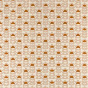 Orla Kiely curtain fabric Sweetpea Orange