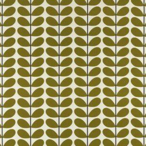 Orla Kiely curtain fabric Two-colour Stem Olive