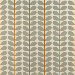 Orla Kiely curtain fabric Two-colour Stem Warm Grey