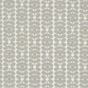 Orla Kiely furniture fabric Velvet Sixties Stem Misty Grey