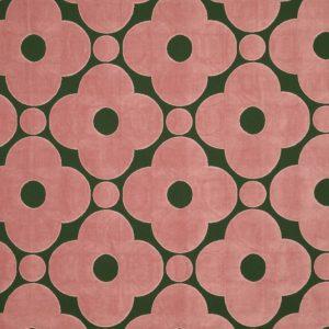 Orla Kiely furniture fabric Velvet Spot Flower Jade