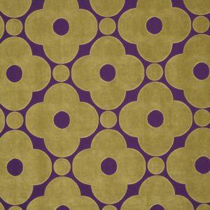 Orla Kiely furniture fabric Velvet Spot Flower Purple
