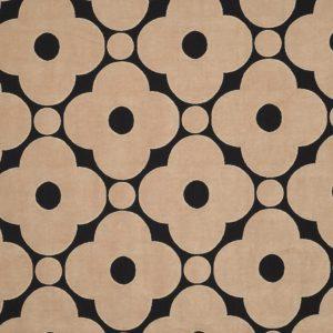Orla Kiely furniture fabric Velvet Spot Flower Tea Rose
