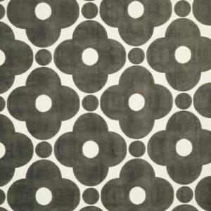 Orla Kiely furniture fabric Velvet Spot Flower Warm Grey