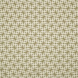 Orla Kiely furniture fabric Woven Acorn Cup Moss