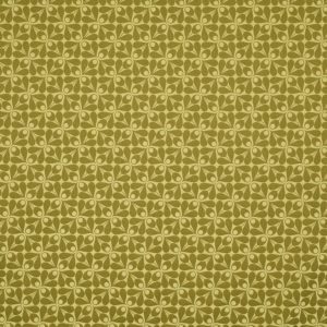 Orla Kiely furniture fabric Woven Acorn Cup Yellow Olive