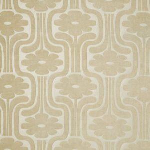 Orla Kiely curtain fabric Woven Climbing Daisy Cream