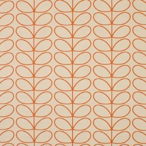 Orla Kiely curtain fabric Woven Linear Stem Orange
