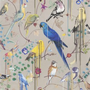 Christian Lacroix wallpaper Birds Sinfonia Cuivre