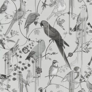 Christian Lacroix wallpaper Birds Sinfonia Graphite