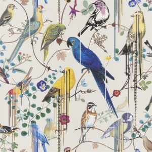 Christian Lacroix wallpaper Birds Sinfonia Jonc