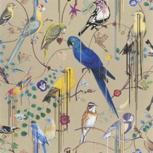 Christian Lacroix wallpaper Birds Sinfonia Or