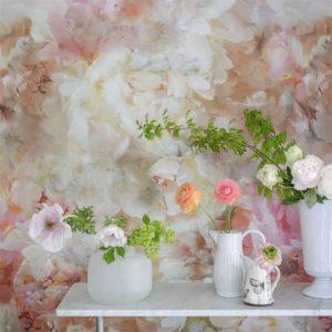 Designers Guild mural Fleur De Nuit Pale Coral