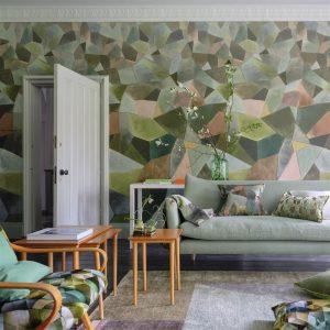 Designers Guild mural Geo Moderne Jade