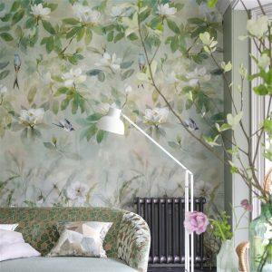 Designers Guild mural Kiyosumi Celadon