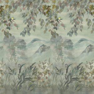 Designers Guild mural Miyako Scene 1 Dove