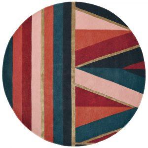 Ted Baker round rug Sahara Burgundy