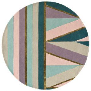 Ted Baker round rug Sahara Pink