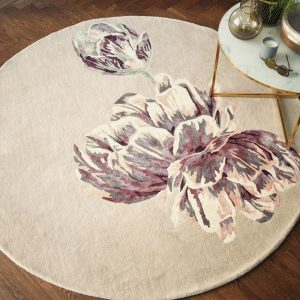 Ted Baker round rug Tranquility Aubergine
