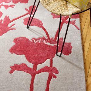 Florence Broadhurst rug Floral 300 Charcoal